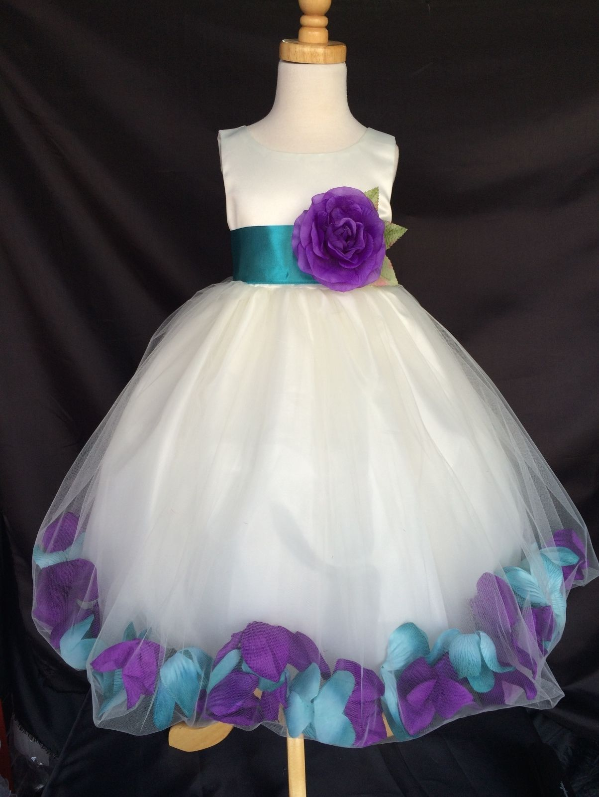Details About Mardi Grass Ivory Flower Girl Bridesmaids Mixed