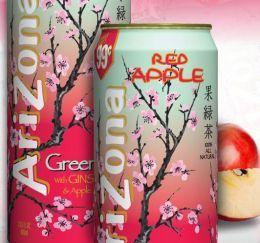 Red Apple Arizona Green Tea Can  #Asian #SodaCanJewelry #Metal #Recycle #Stash #FoundObjects