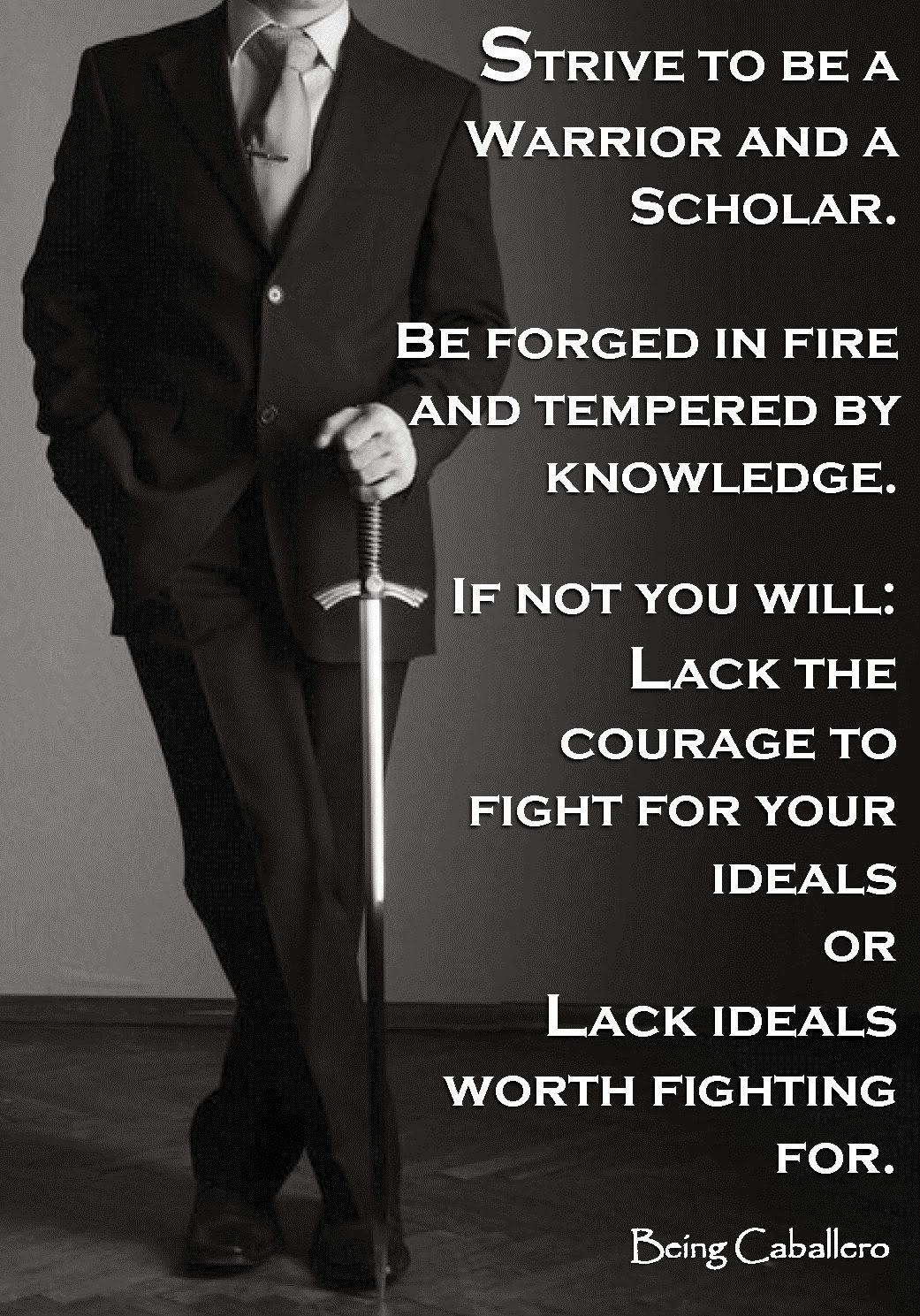 A Gentleman A Warrior And A Scholar Walk Into A Bar A Single