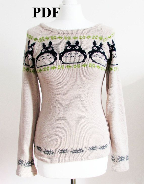 This is the pattern chart for my Totoro inspired knitted jumper. Use ...