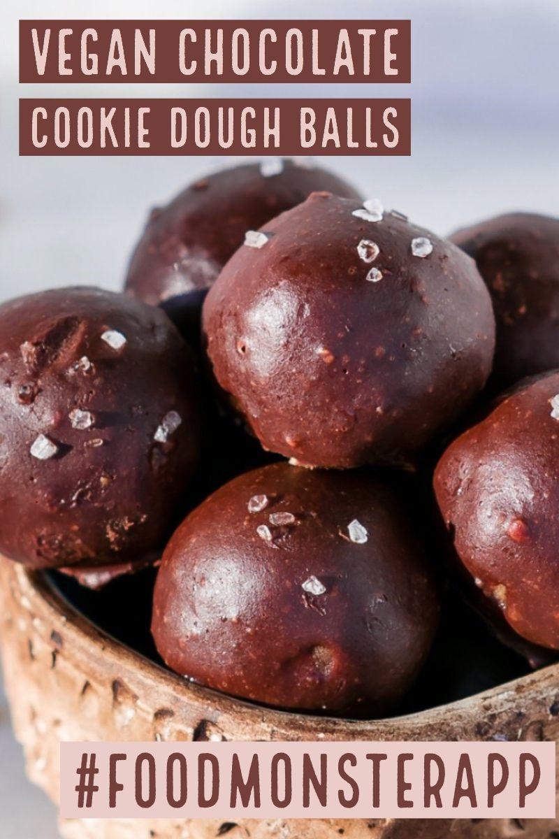 Chocolate Cookie Dough Balls Vegan Gluten Free In 2019