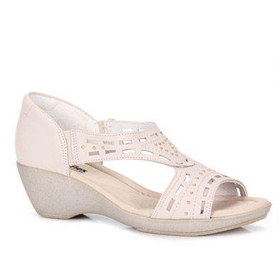 381b3f0b6 Sandalia Anabela Usaflex I1456 - Areia | shoes in 2019 | Calçados ...