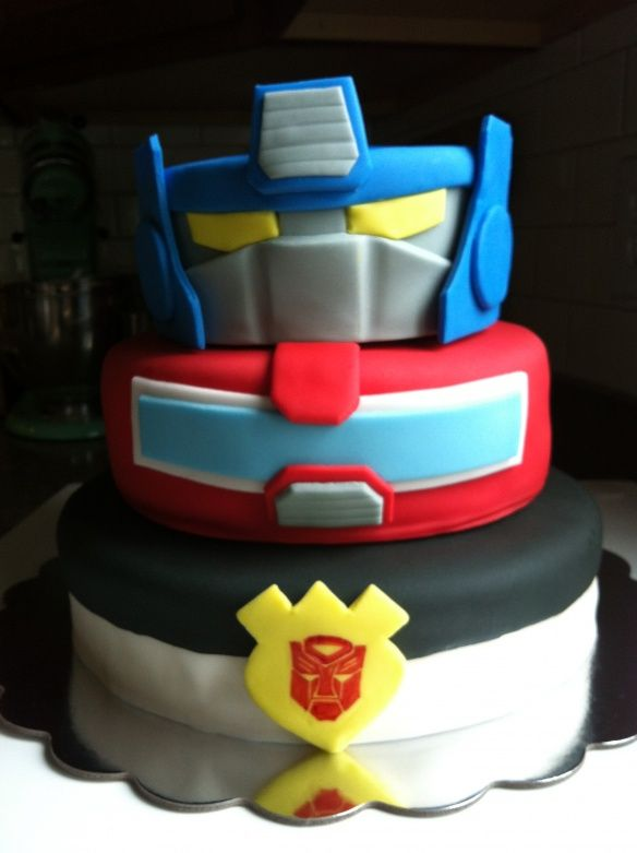 Charlies Transformers Rescue Bots Party Cake Party Ideas