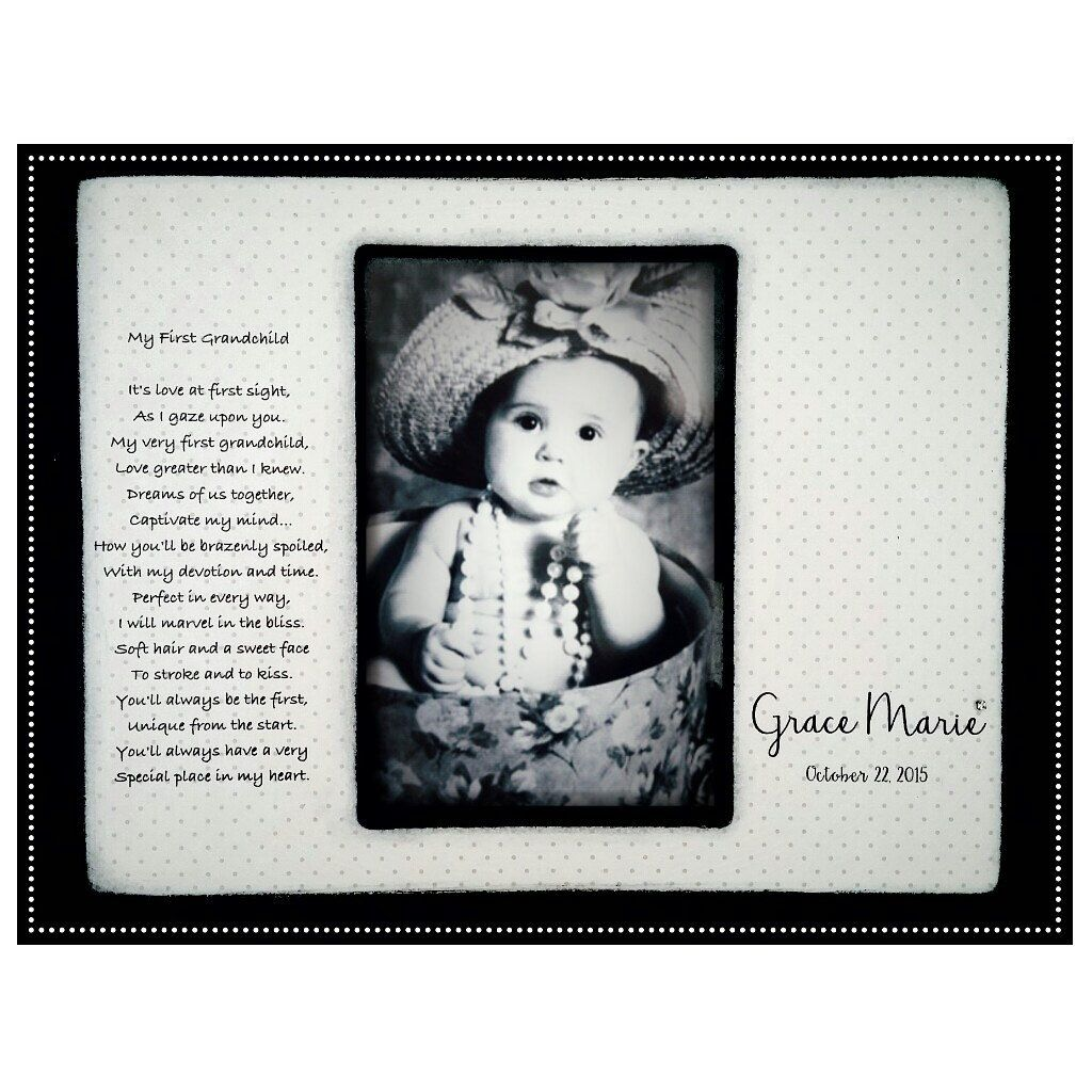 Grandchild Baby Grandparent Grandma Grandpa- Personalized Picture ...