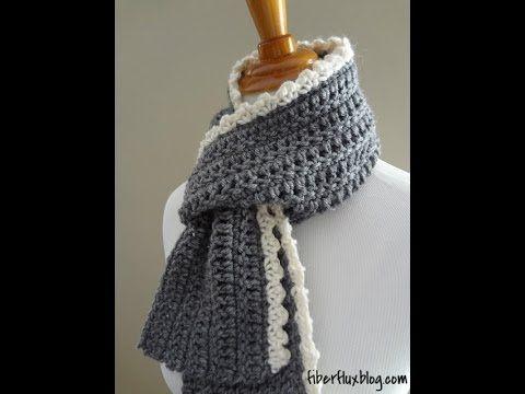 Episode 78: How to Crochet the Ingrid Scarf - YouTube | Crochet ...