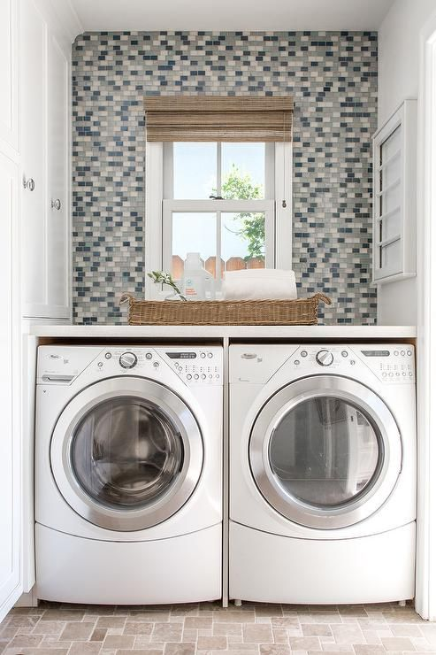 Exquisite Laundry Room Boasts Floors Clad In French Pattern Mini