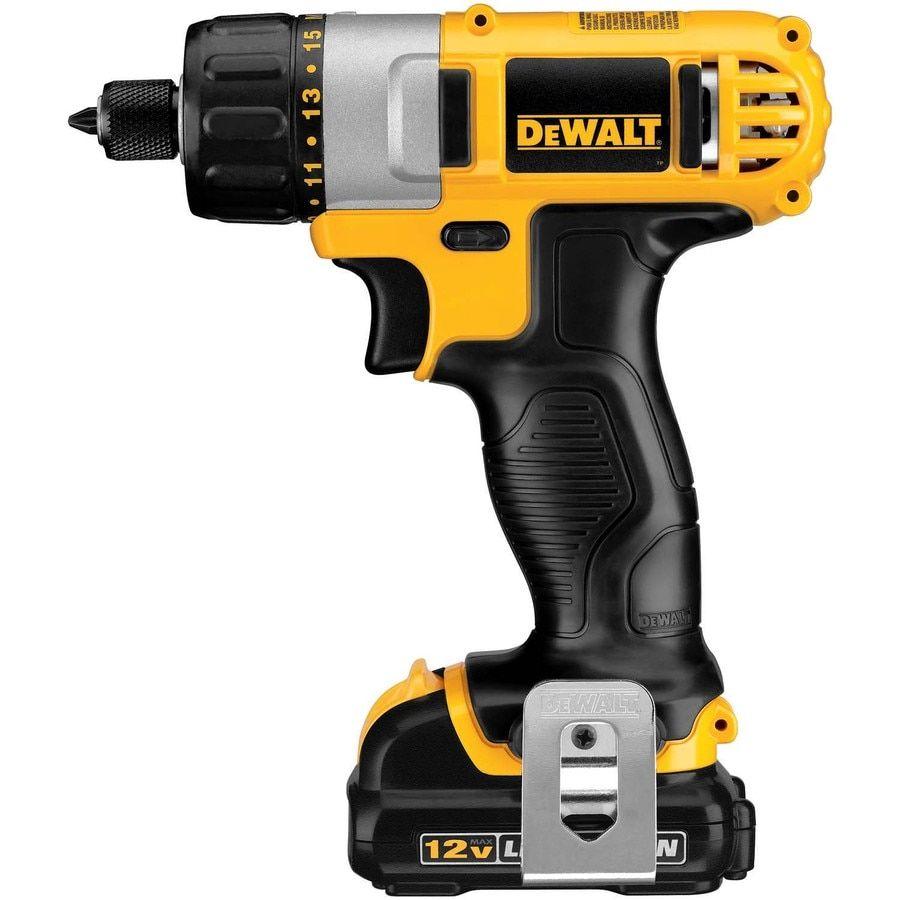 Dewalt 12 Volt Max 1 4 In Cordless Screwdriver Drill Dewalt Drill Dewalt Tools
