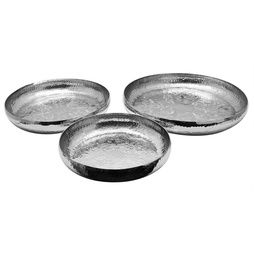 Handgjorda aluminiumfat 3 stycken