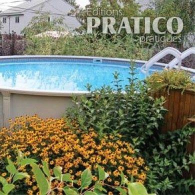 Jardin de vivaces autour de la piscine hors terre - Plate-bande ...