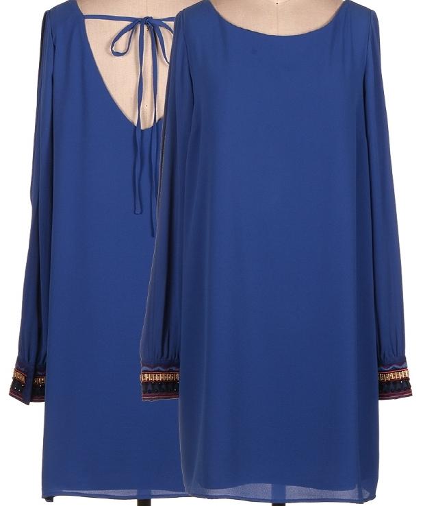 Pretty Royal Dress: Blue