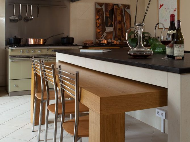 Cuisine en îlot / An island in your kitchen    wwwmaison-deco