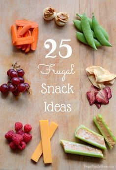 This summer with the kids being home, I'm sure you're going to need a few snack ideas. I've put together 25 frugal snack ideas for kids. These are easy to make because who wants to be in the kitchen when it's summer?!  These are great snack ideas for adults too. Don't worry I've included the recipes too.