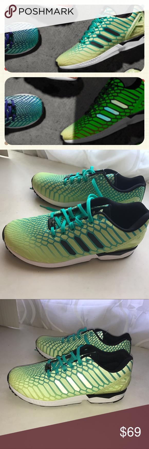 nuovo zx flusso fosforescente per uomini adidas zx flusso luminoso riflesso