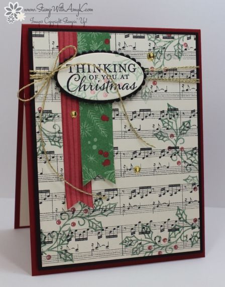 Stampin' Up! Embellished Ornaments CAS Christmas Card