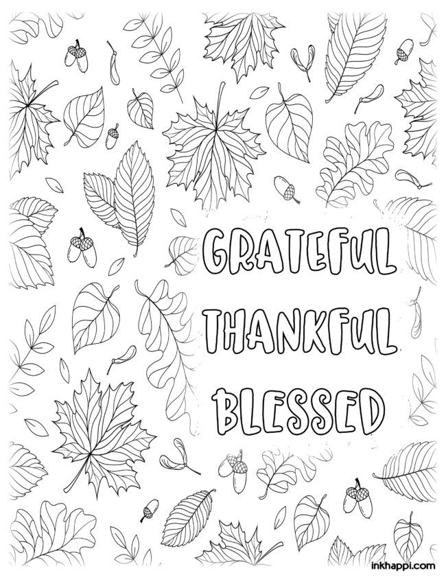 Thanksgiving Coloring Pages for fun or decor ...