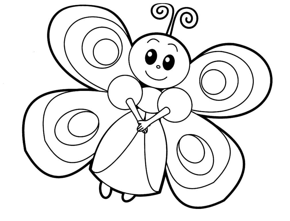 BabyAnimalColoringPages9 Butterfly coloring page