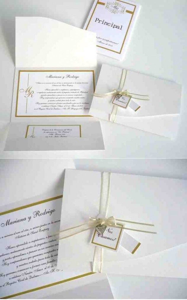 Conjunto de invitaciones de boda sencillas y económicas Boda - bodas sencillas