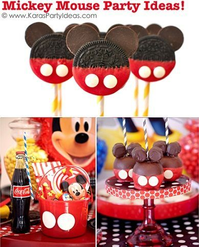 ideas para un cumpleaos de mickey mouse casero - Ideas Cumpleaos