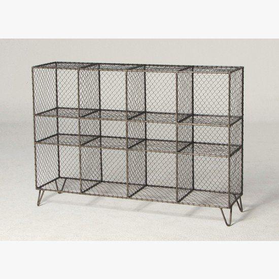 Vintage wire mesh storage unit  sc 1 st  Pinterest & Vintage wire mesh storage unit | KitchenShortlist | Pinterest | Wire ...