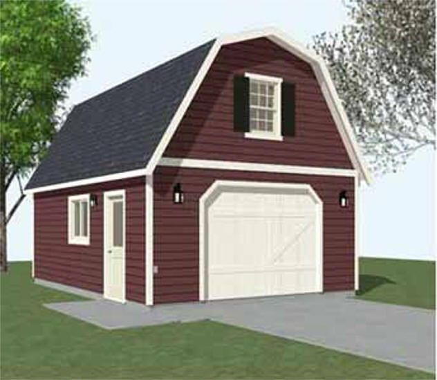 Colonial style garages 16 39 x20 39 barn garage plans for Colonial garage