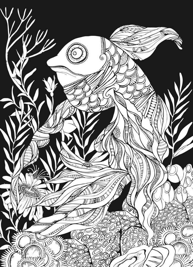 Creative Haven Sea Life Wonders Coloring Book: Amazing Designs on a ...