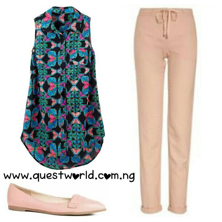 #comfortable #Friday!  #top #trousers #loafers #shoes #questworldboutique www.questworld.com.ng Nationwide delivery from 24hrs!