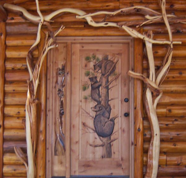 Carved Rustic Exterior Steel Doors For Homes | ... Rustic Doors, Hand  Painted