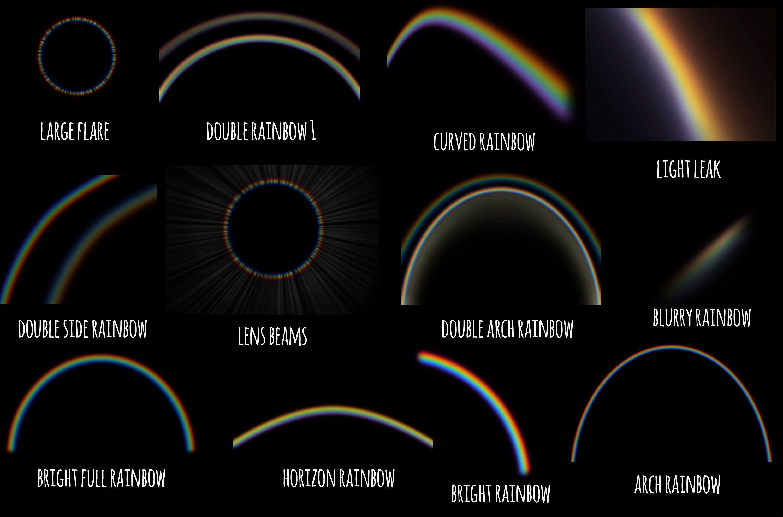 Realistic Rainbow Overlays Overlays Free Photoshop Actions Rainbow