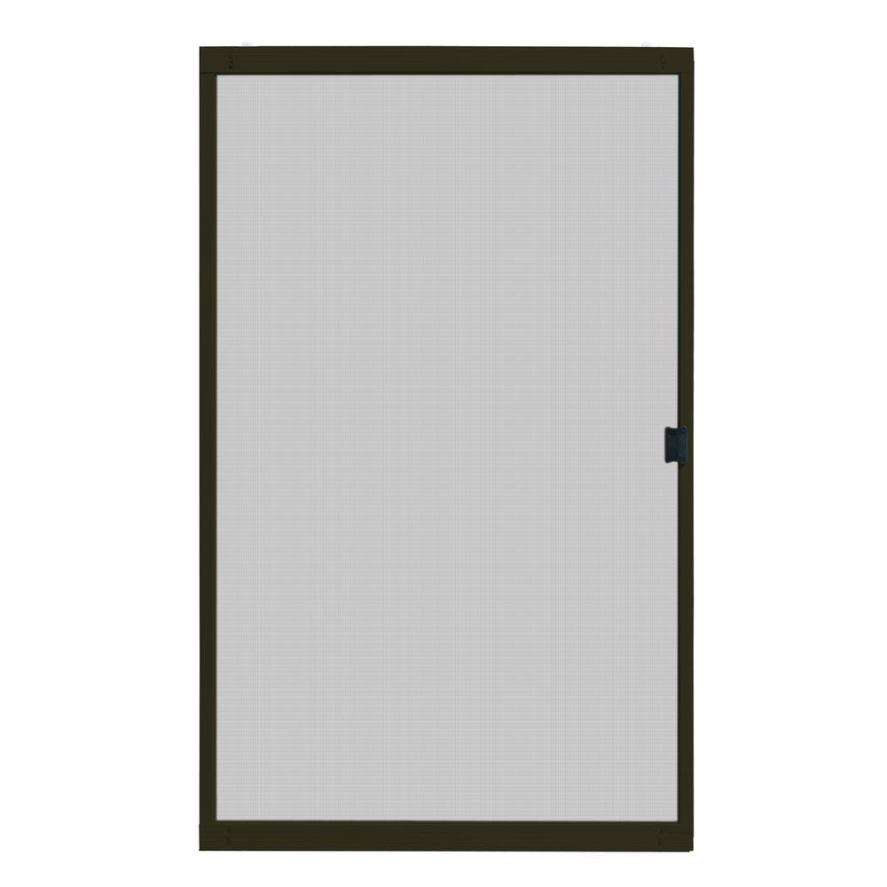 Unique Home Designs 48 In X 80 In Adjustable Fit Bronze Metal Sliding Patio Screen Door Ispm500048brz The Home Depot In 2020 Screen Door Patio Screen Door Sliding Patio Screen Door