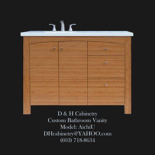 Custom 42 Solid Bamboo Bathroom Vanity Bathroom Vanity Concord