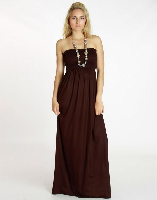 brown strapless maxi dresses 2013 Brown Straples Maxi Dresses in ...