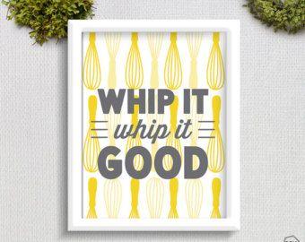 Whip It Whip It Good /// Whisk Print /// Retro Kitchen /// Art Print