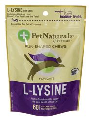 Pet Naturals LLysine for Cats Chicken Liver Flavored