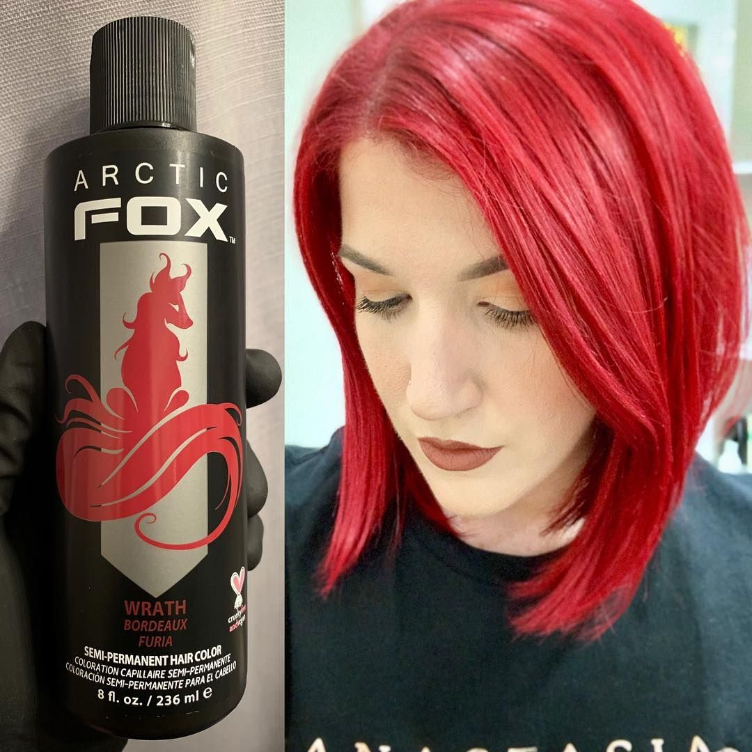 Arctic Fox Hair Color Melee Mua Tried Out Arcticfoxhaircolor In The Color Wrath So Far I M Impressed The Vegan Hair Arctic Fox Hair Color Dyed Red Hair