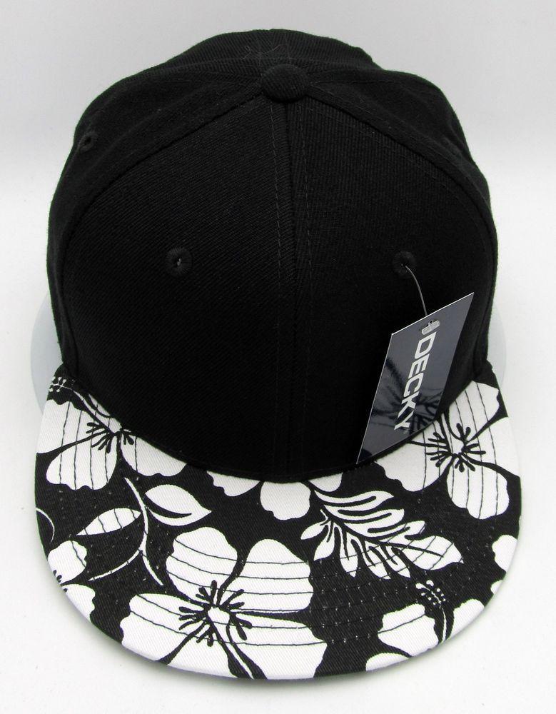 c5df37f3958 Hawaiian Hibiscus Flower Snapback Cap Hat Aloha HI Floral Caps Hats Flat  Bill  Decky  BaseballCap