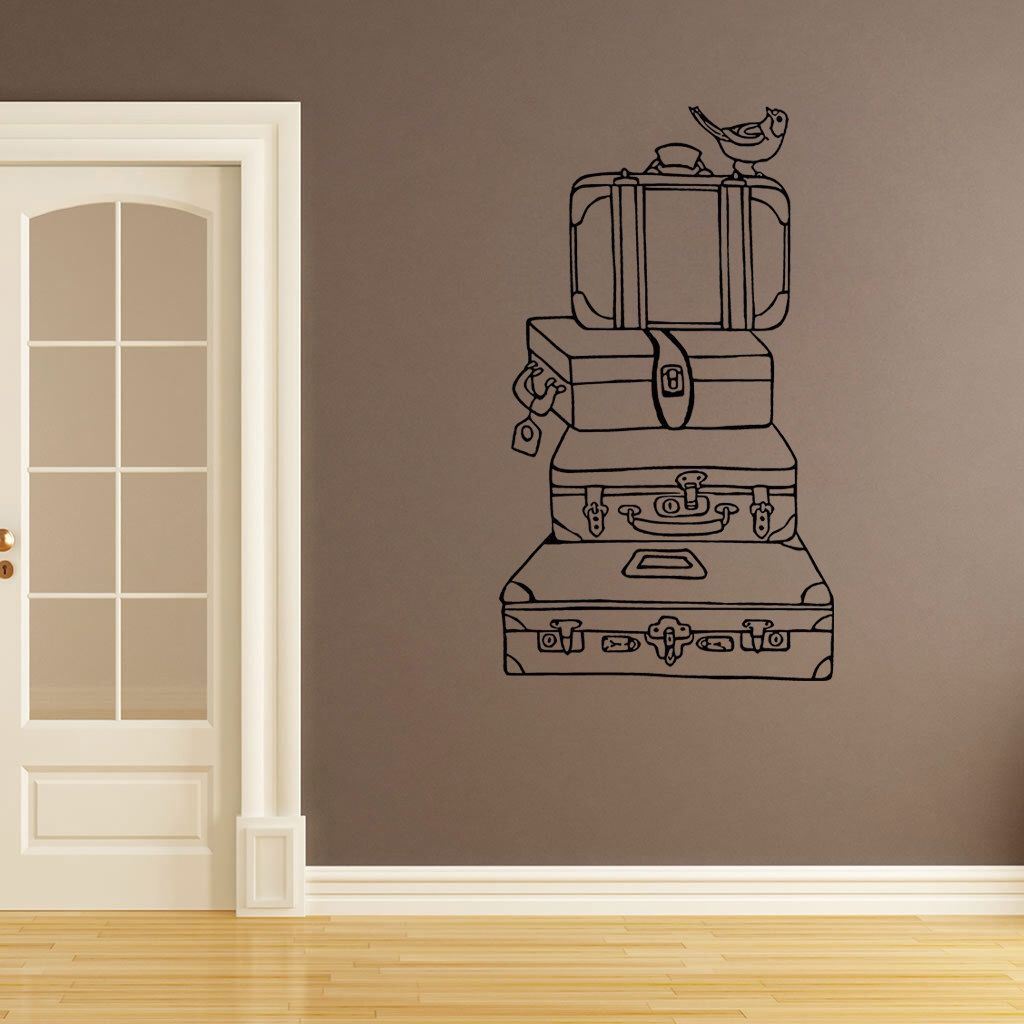 wall decal vintage suitcases bathroom wall stickers bedroom wall decal kidu0027s bedroom