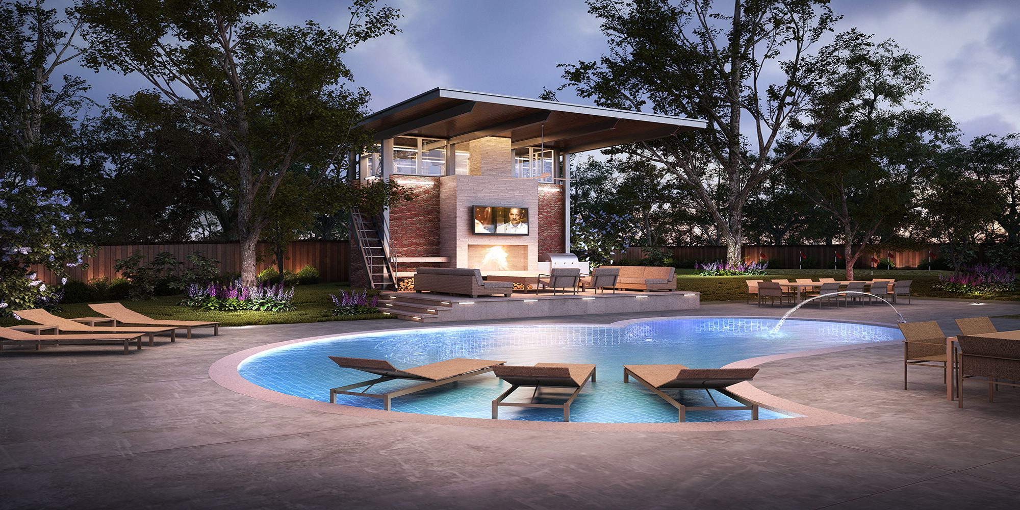 Best 3D Outdoor Resort Model 3Dsmax Free Download Residential 400 x 300