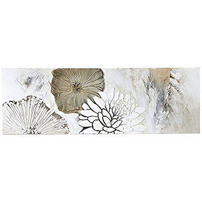 bild auf leinwand motiv blumen acryl weiss creme beige 150 x 50 cm bilder leinwanddruck dm leinwandbilder posterlounge