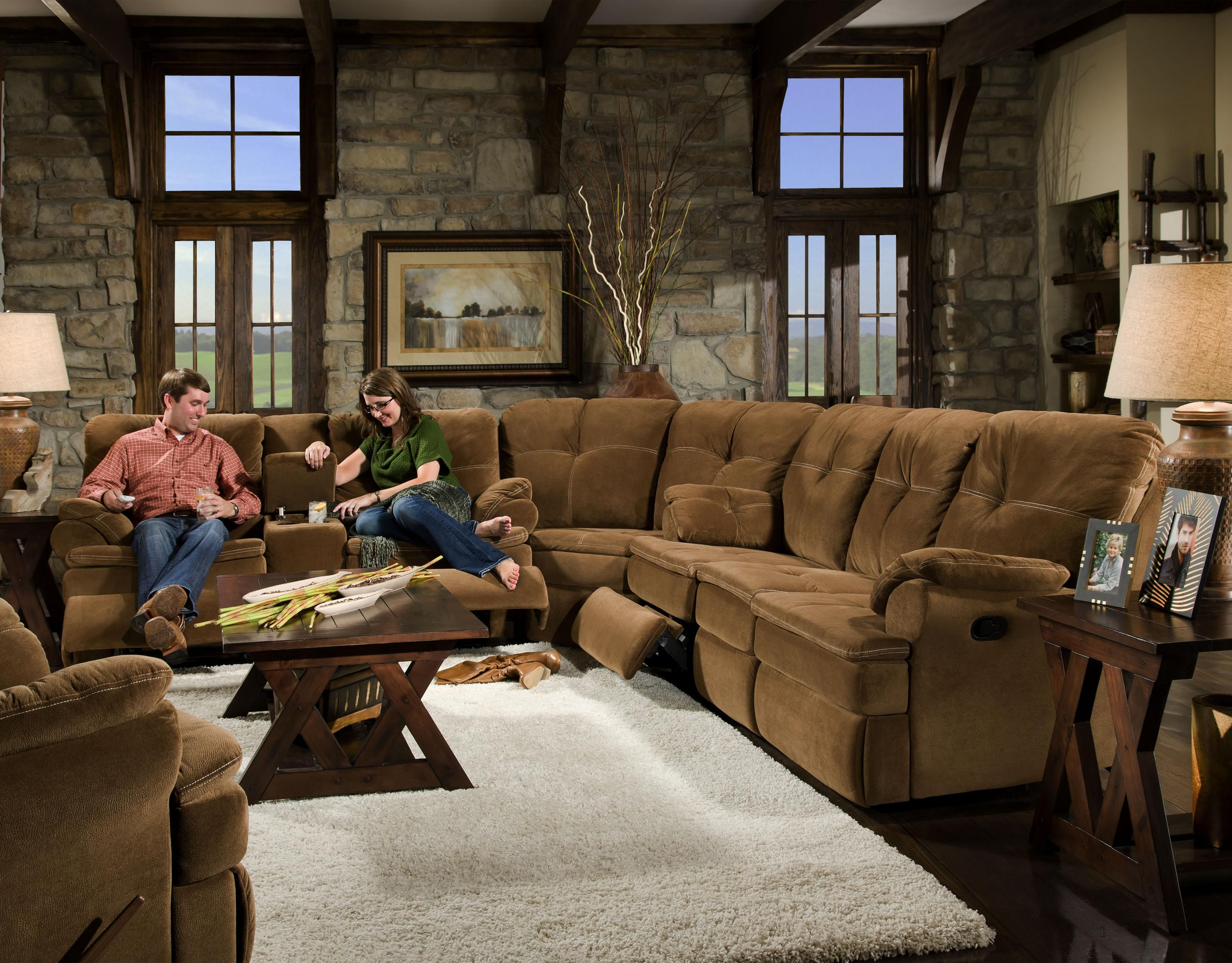 909 Night Party 3 Piece Sectional By Corinthian   Great American Home Store    Sofa Sectional