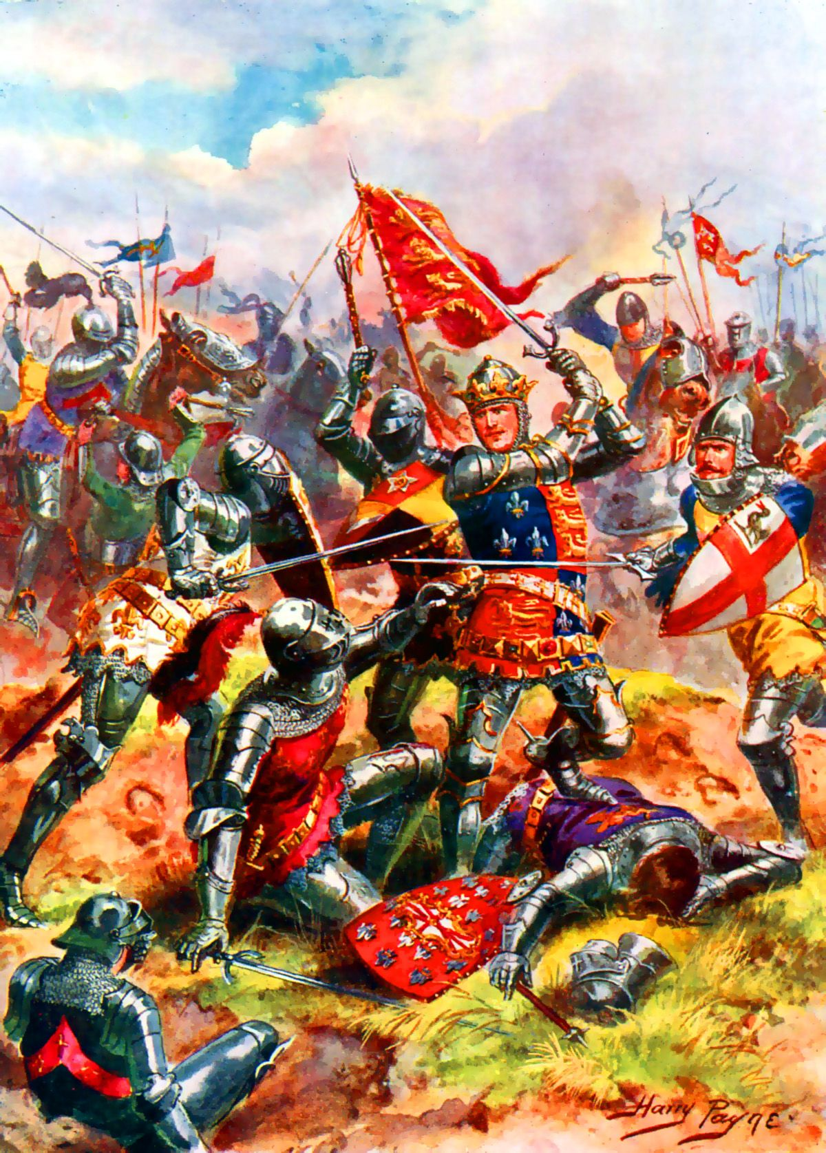 King Henry V At The Battle Of Agincourt On 25th October