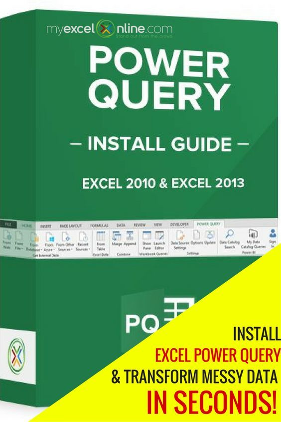How to install Excel\u0027s latest powerful feature Power Query! Learn