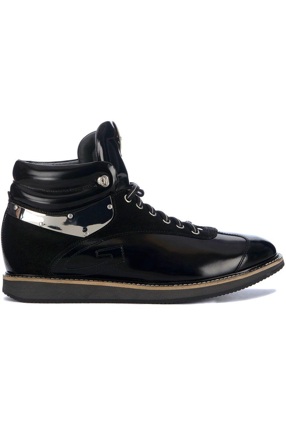 Stoere Alberto Guardiani 69411 (zwart) Heren sneakers van het merk alberto guardiani . Uitgevoerd in zwart.