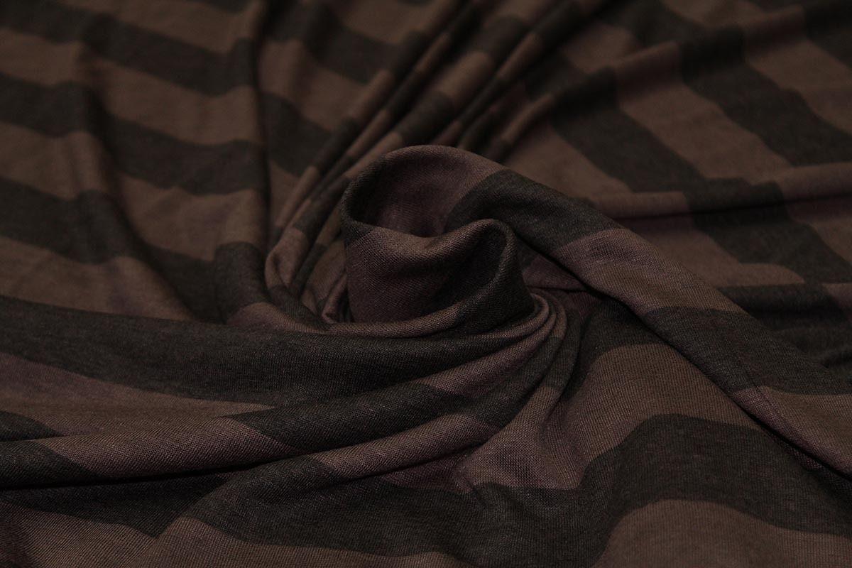 Per M Grey cream /& silver lurex marl stripe bouclé cotton jersey knitted fabric