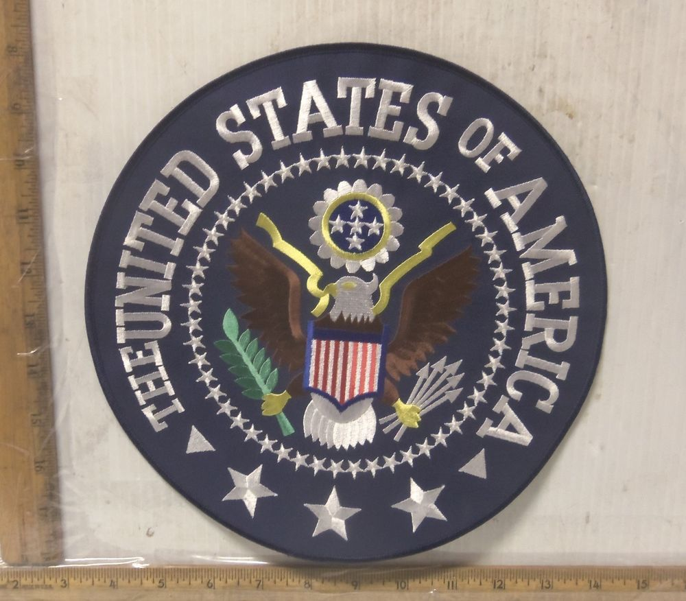 """""""The United States of America"""" Embroidered Back Patch"""