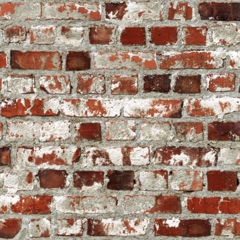 Papier Peint Briques Rouge Ulting | • Déco Loft • | Pinterest
