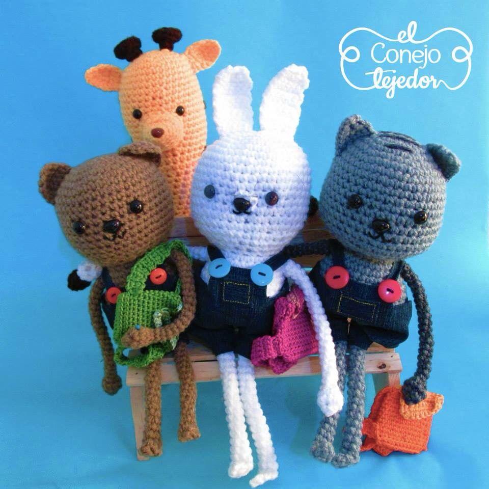 ::El conejo tejedor:: #amigurimi #tejido #accesorios