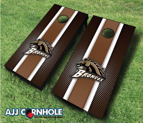 Officially Licensed Western Michigan Cornhole Set. Show off your pride at your next cookout or tailgate with our signature striped design! www.ajjcornhole.com