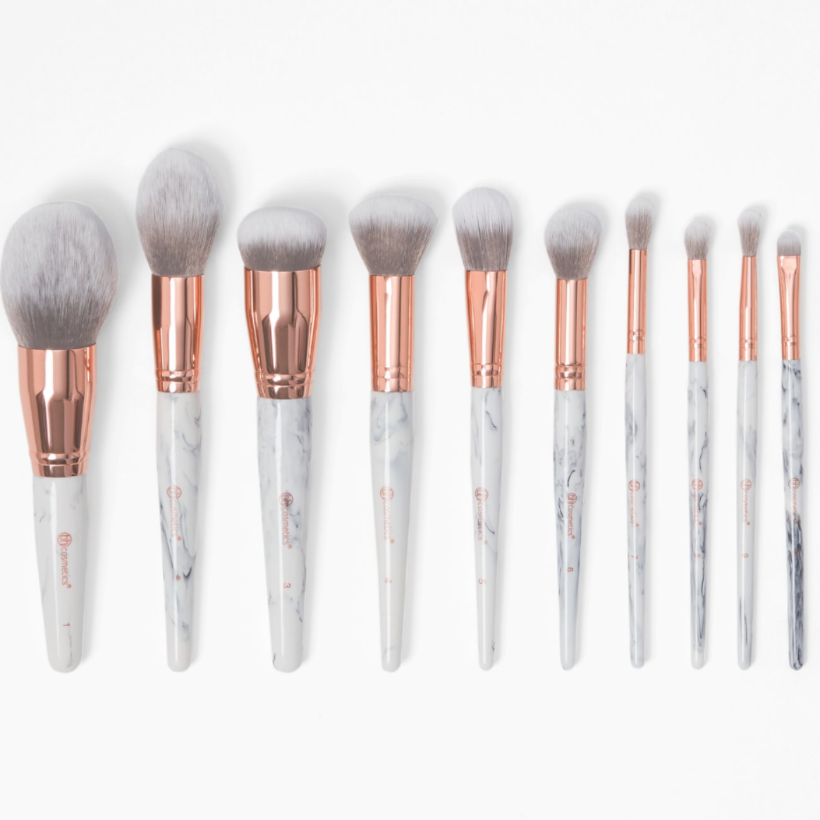 Marble Luxe 10 Piece Brush Set Bh Cosmetics Bh Cosmetics Brushes Makeup Brush Set It Cosmetics Brushes