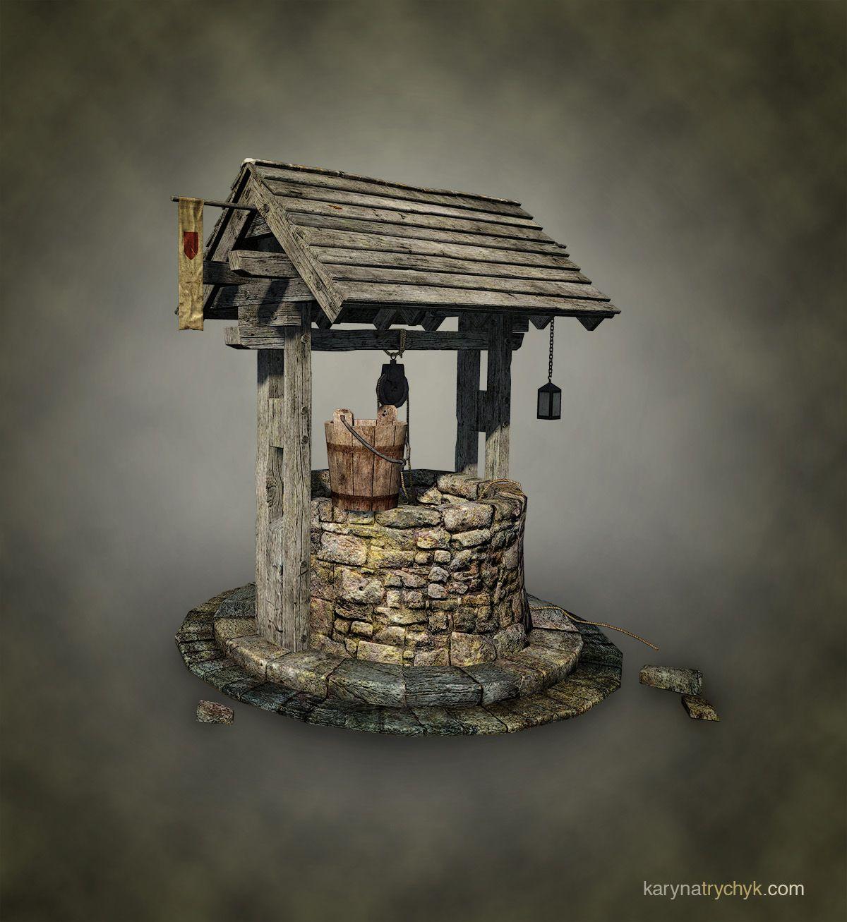 Medieval Well Google Zoeken Redniowieczne Studnie Medieval Wellness Water Well