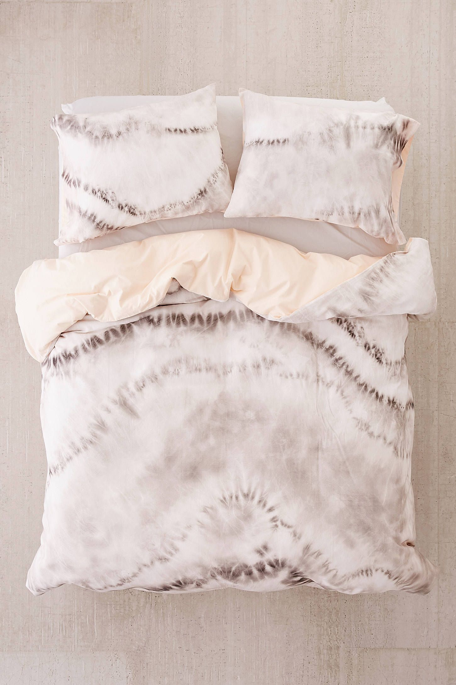 Shop Neutral Tie Dye Reversible Duvet Cover At Urban Outfitters